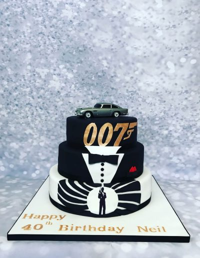 007 birthday cake design