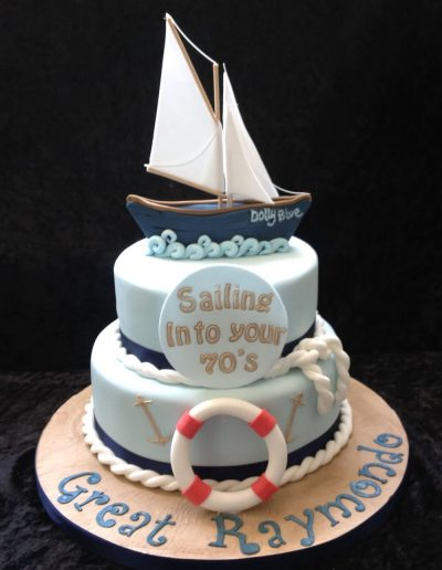 sailing birthday cake ideas