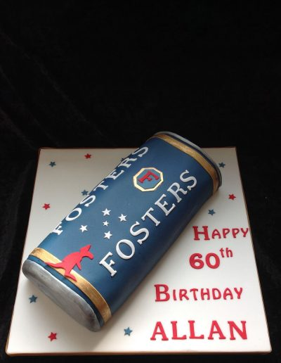 can of fosters cake
