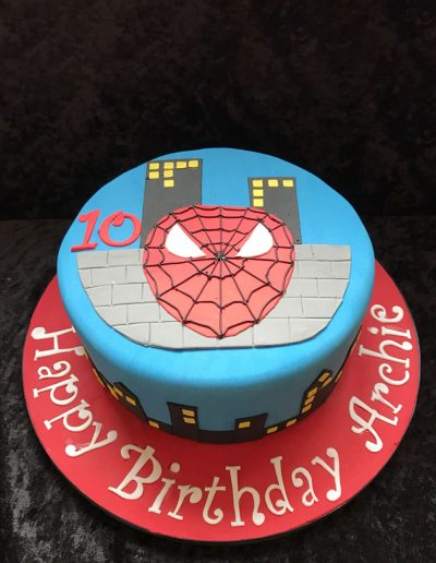 spider man children's birthday cake
