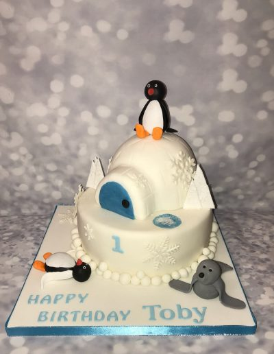 pingo birthday cake