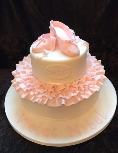 unusual christening cakes