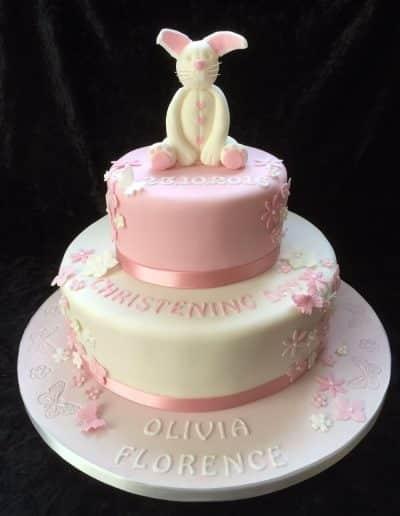christening cakes girl