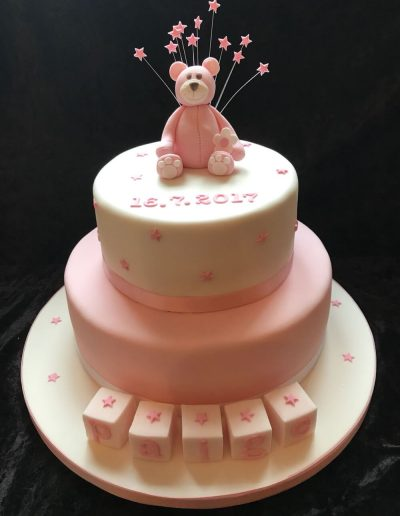 christening cakes for girls
